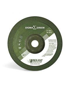 Rex Cut 730004 Sigma 36G Green Stainless Steel Grinding Wheel