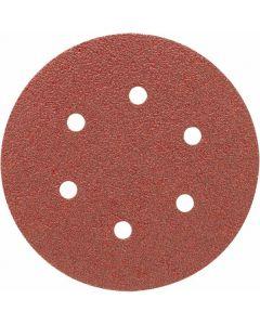 """Porter Cable 736600425 6"""" x 6-Hole 40-Grit H&L Sanding Discs, 25/Box"""