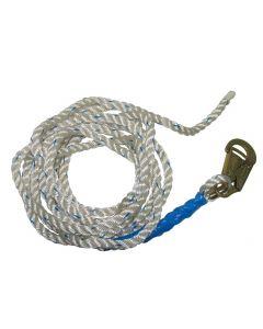 Fall Tech 8150 Rope Vertical Lifeline, 5/8 inch, 50 ft, Alloy Steel, 310 lb