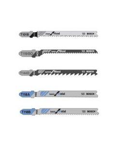 T500 5-Piece Assorted JigSaw Blade Pack
