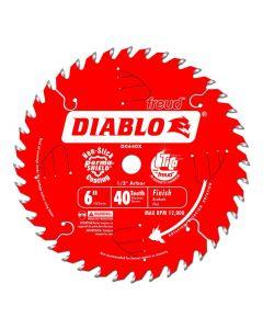 """Freud Diablo D0640X 6"""" 40T ATB Thin Kerf Circular Saw Blade"""