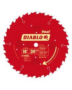 """Freud Diablo D1024X 10"""" 24T ATB Thin Kerf Circular Saw Blade"""
