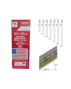 Senco DA23EPBN Strip Angle Finish Nails, 2-1/4 inch x 15 ga, Steel