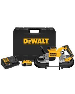 DeWalt DCS374P2 20V Max XR Brushless Deep Cut Band Saw Kit, 5.0Ah Batteries