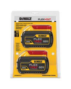 DeWalt DCB609-2 Flexvolt 20V / 60V 9.0 Ah Battery, 2/Pack
