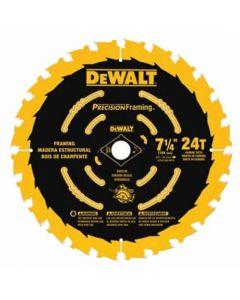 """DeWalt DW3199 7-1/4"""" 24T ATB Circular Saw Blade"""