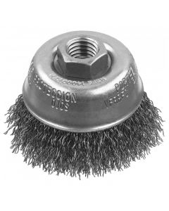 "DeWalt DW49150 3"" x 5/8""-11 Crimped Wire Cup Brush, Carbon Steel"