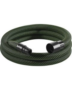 "Festool 500677 D27x3.5m-AS Braided Sleeve Antistatic Suction Hose, 1"" x 11.5'"