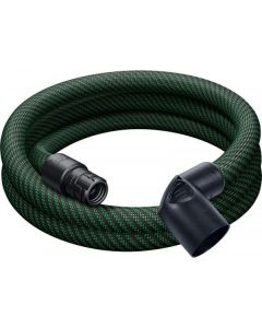 Festool 500680 D27x3.5m-AS Braided Sleeve Antistatic Suction Hose, Angled