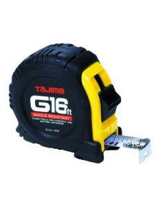 Tajima G-16BW 16' Tape Measure with Sleeve, Steel Blade