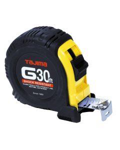"Tajima G-30BW 30' x 1"" Tape Measure, Steel Blade"