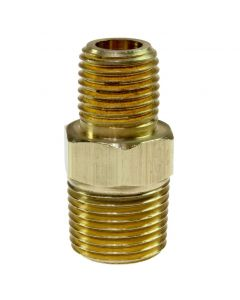 """H0604 Hex Nipple, 3/8"""" MPT x 1/4"""" MPT"""