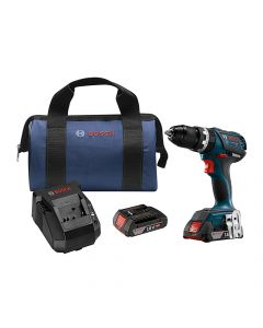 Bosch HDS183-02 18V Brushless Hammer Drill Kit, 2.0 Ah