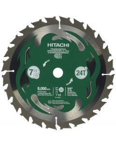 """Hitachi 115429 7-1/4"""" 24T Framing Circular Saw Blade"""