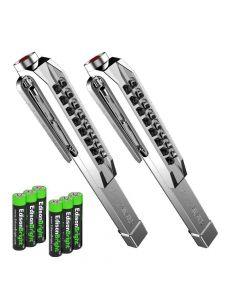 Nebo 6194 LARRY SILVER LED Pocket Work Light Flashlight, 8 LED, 100 Lumens