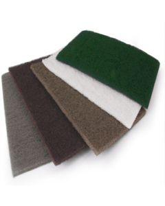 """9"""" x 6"""" Inch NonWoven Abrasive Handpads, Coarse Grade Brown, 10/Box"""