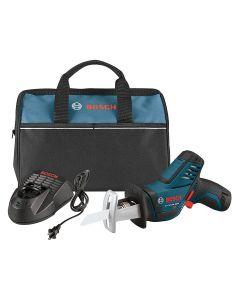 Bosch PS60-102 12V Max Cordless Pocket Reciprocating Saw Kit, 2.0Ah Batteries