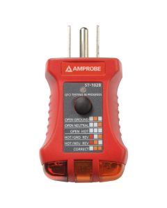 Amprobe ST-102B Receptacle/Socket Tester with GFCI, 110-125V
