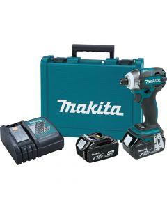 Makita XDT09M 18V LXT Lithium-Ion Cordless Quick-Shift Mode 3-Speed Impact Driver Kit, 4.0Ah Batteries