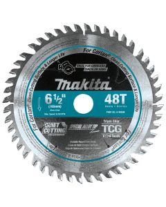"""Makita A-98809 6-1/2"""" 48T Carbide-Tipped Cordless Plunge Saw Blade"""