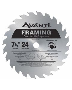 "Freud A0724A 7-1/4"" 24 Teeth Avanti Framing Circular Saw Blade"