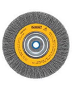 "DeWalt DW4907 8"" Crimped Bench Wire Wheel, 5/8"" Abror, Wide Face, .014"" Wire"