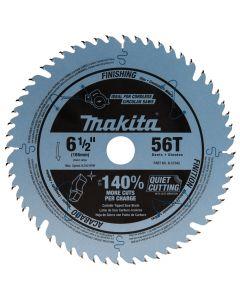 "Makita B-57342 6-1/2"" 56T Carbide-Tipped Cordless Plunge Saw Blade"