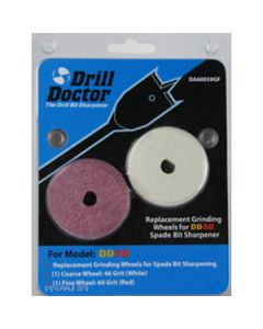 DDSB46+60 Wheels for Sharpening Spade Bits with the DDSB