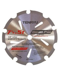 "Tenryu BP-18505 Board-Pro Plus Fiber Cement 7-1/4"" 5T Saw Blade"