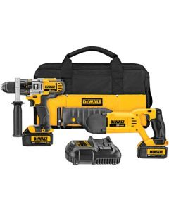 DeWalt DCK292L2 20V MAX Li-Ion Cordless Hammerdrill & Reciprocating Saw Combo Kit, 3.0 Ah