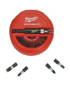 Milwaukee 48-32-4012 22-Piece Shockwave Screw Bit Set in a Puck