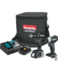 Makita CX200RB 18V LXT Sub‑Compact Cordless 2‑Piece Combo Kit, 2.0Ah Batteries