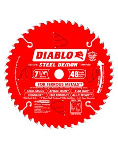 "Freud D0748A 7-1/4"" 48 Teeth Diablo Ferrous Metal Circular Saw Blade"