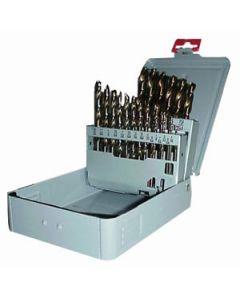 "DS-29CO Jobber Type Cobalt Drill Set, 29 Piece, 1/16"" to 1/2"""
