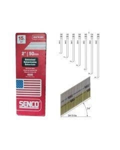 Senco DA21EABN Strip Angle Finish Nails, 2 inch x 15 ga, Steel