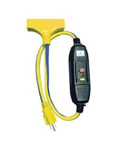 12/3 3' GFCI Tri-Tap Rainproof Extension Cord B/Y SJTW