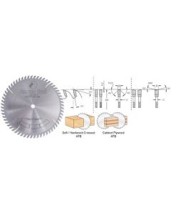 Ditec Extra Hard Carbide Tips Cut-Off and Crosscut Saw Blades