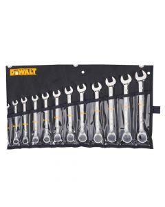 DeWalt DWMT19230 Ratcheting Metric Wrench Set, 12 Piece