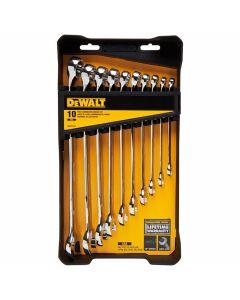 DeWalt DWMT72167 Combination Wrench Set, 10 Piece