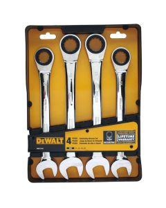DeWalt DWMT74194 Jumbo Metric Ratcheting Wrench Set, 4 Piece