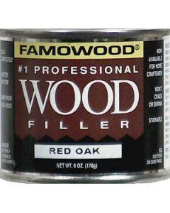 36041134 Famowood Solvent Based Wood Filler, 6 oz, Red Oak