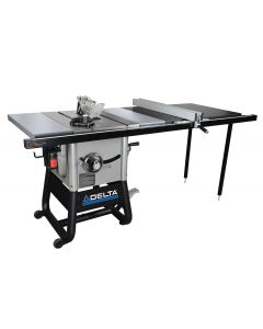 "36-5052 10"" Left Tilt Table Saw with 52"" Right Hand Rip & Steel Wings"