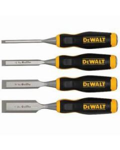 DeWalt DWHT16063 Ergonomic Short Blade Wood Chisel Set, (4)
