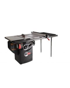 "10"" 3HP 230V Professional Cabinet Saw with 36"" T-Glide fence system, rails & extension table"