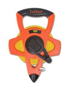 "Lufkin FE150 1/2"" x 150' Hi-Viz Orange Fiberglass Open Reel Measuring Tape"