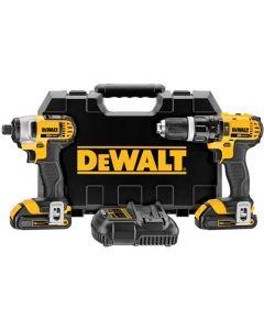 DeWalt DCK285C2 20V MAX Compact Hammerdrill & Impact Driver Combo Kit, 1.5 Ah