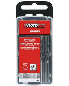 """RotoZip GP8 1/8"""" Guide Point Drywall Zip Bit, 8/Pack"""
