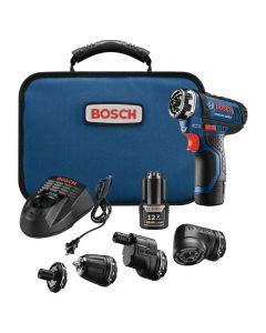 Bosch GSR12V-140FCB22 12V Max Flexiclick 5-in-1 Drill/Driver System, 2.0Ah Batteries