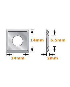 14 x 14 x 2mm - 4 Cutting Edges