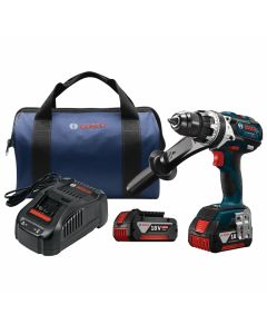 "Bosch HDH183-01 18V EC Brushless 1/2"" Hammer Drill/Driver Kit, 4.0Ah Batteries"